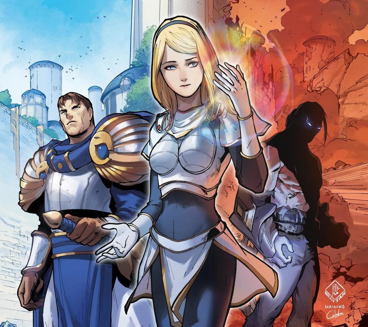 League of Legends - Capa da HQ com a Lux
