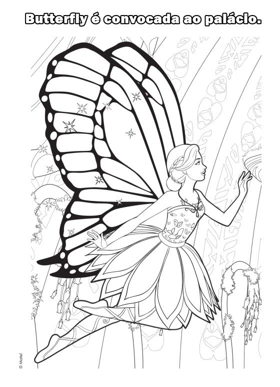 Barbie - Mariposa - The Fairy Princess - Movie - Filme - Desenhos pra colorir e moldes