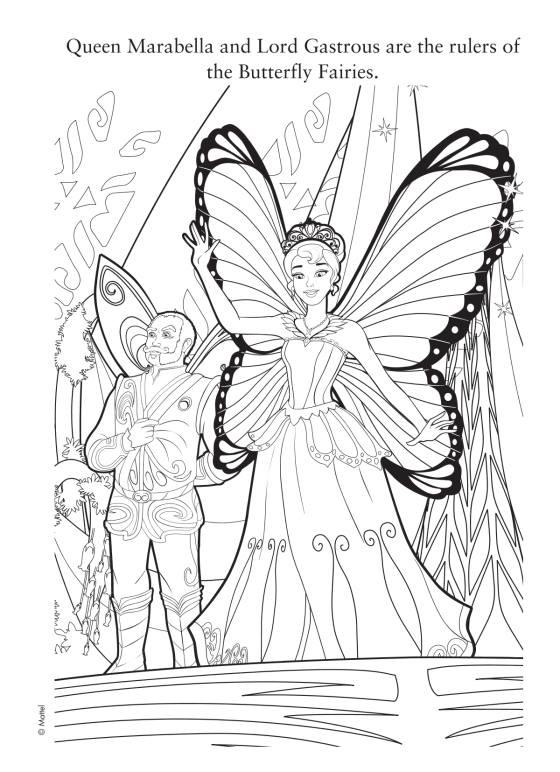 Barbie com vestido de Fada - Desenhos pra pintar, colorir, imprimir e preencher - Artes e Lápis de Cor 02