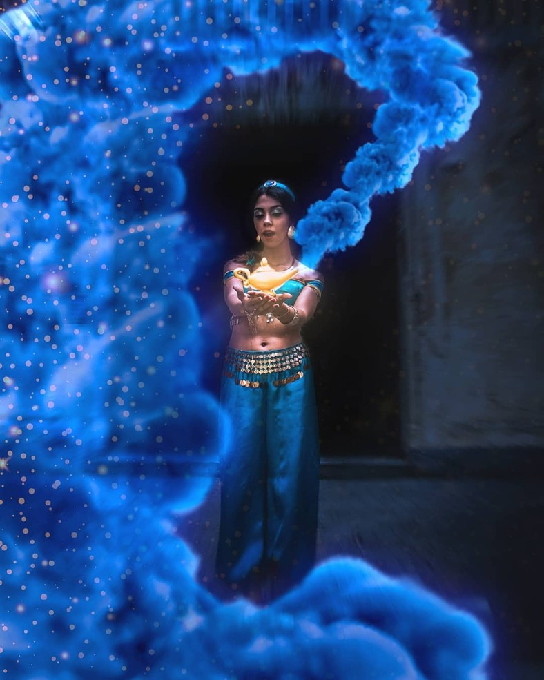 Arte Digital Cosplay da Jasmine, de Aladdin - 01