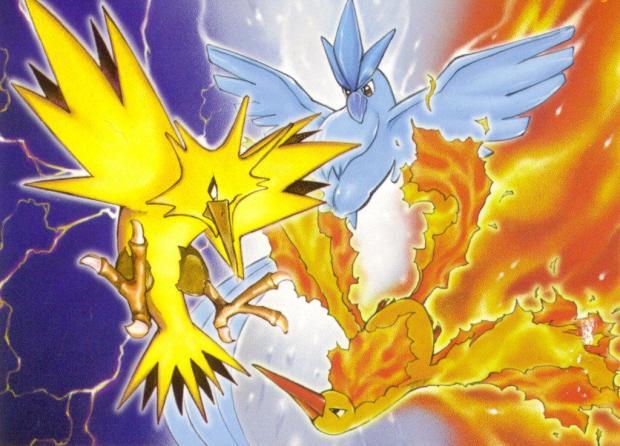 Aves Lendárias de Pokémon - Articuno, Zapdos e Moltres