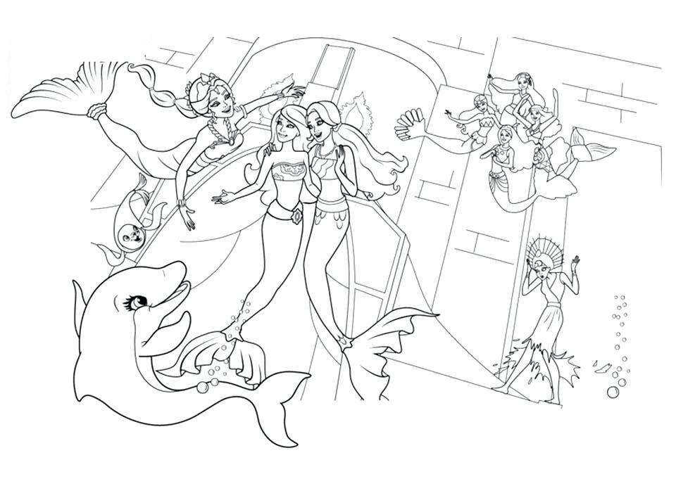 Barbie Sereia - Desenho pra pintar, colorir e imprimir - Mermaid 21