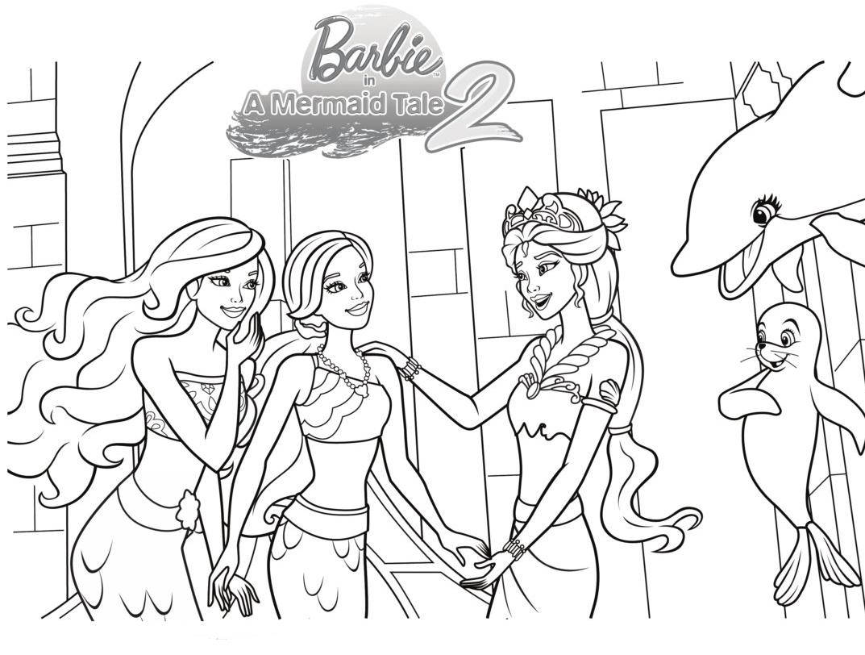 Barbie Sereia - Desenho pra pintar, colorir e imprimir - Mermaid 24