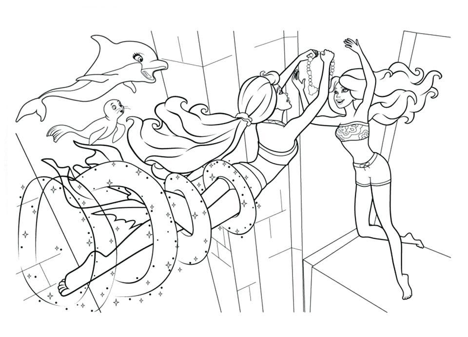 Barbie Sereia - Desenho pra pintar, colorir e imprimir - Mermaid 30
