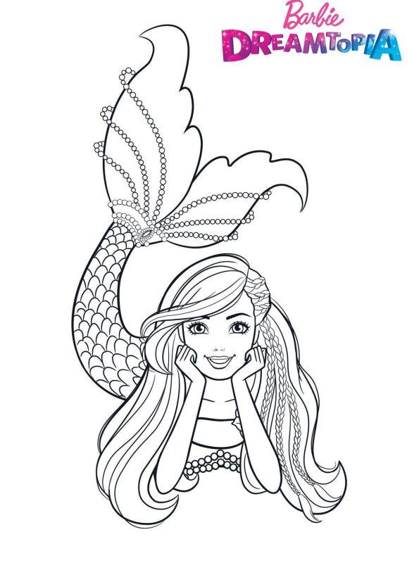 Barbie Sereia - Desenho pra pintar, colorir e imprimir - Mermaid 31