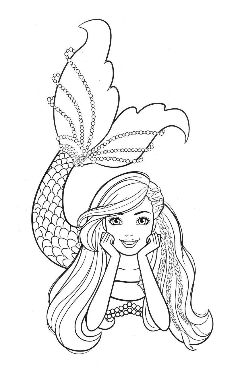 Barbie Sereia - Desenho pra pintar, colorir e imprimir - Mermaid 37