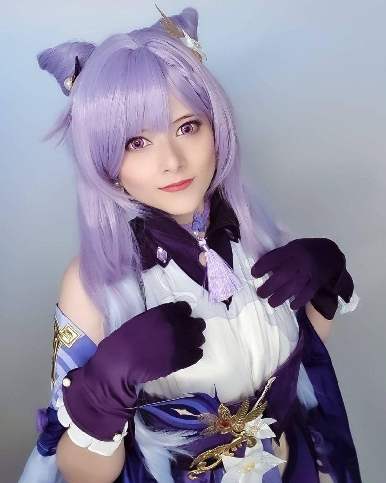 Cosplay e make-up da Keqing - Genshin Impact - sayuri.fsy 03