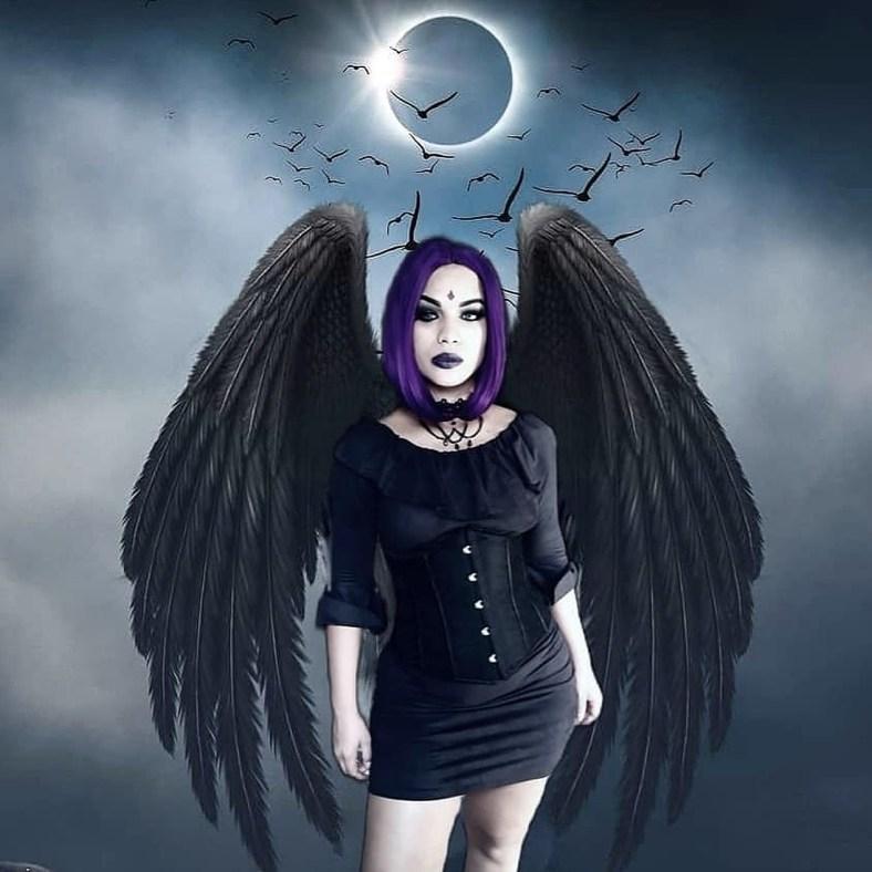 Lindo cosplay da Ravena com vestido - 01