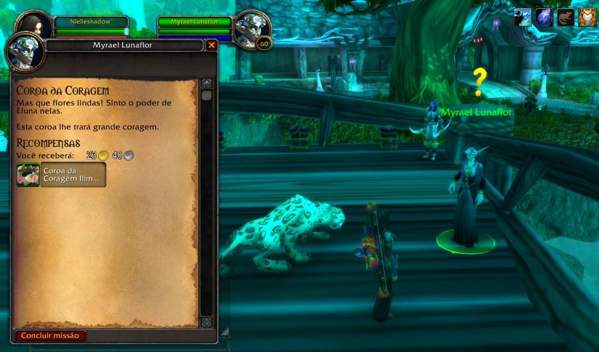 World of Warcraft - Completando a missão da Coroa da Coragem