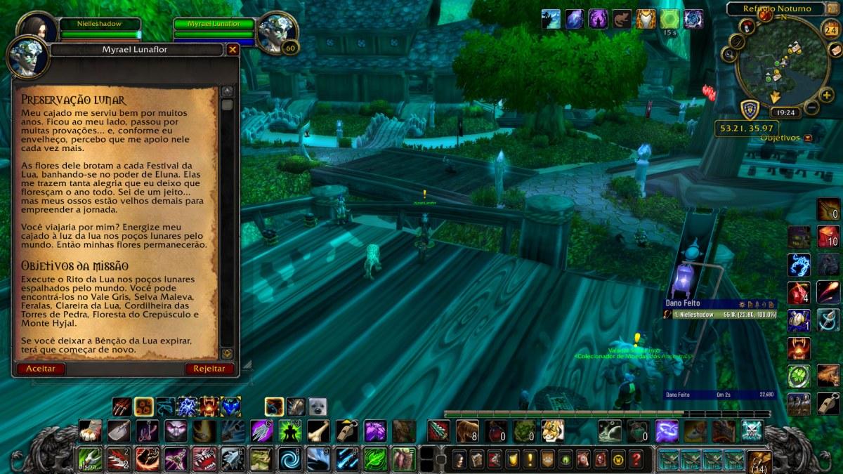 World of Warcraft - Pegando a missão da Preservação Lunar