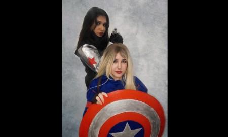 Cosplays Femininos do Capitão América e do Soldado Invernal - Capa