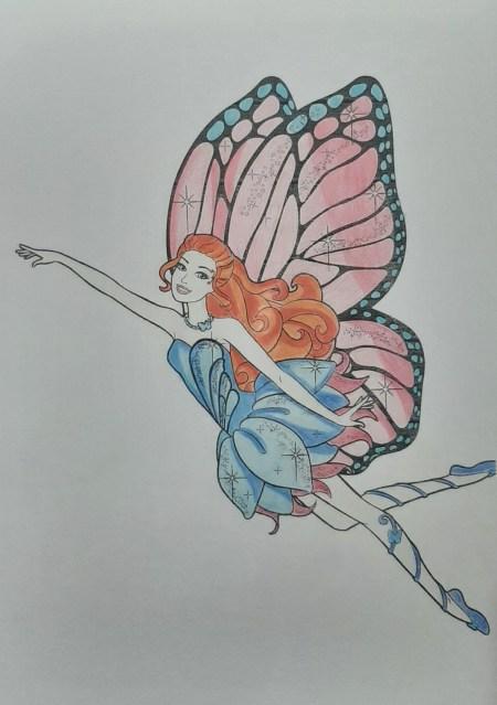 Tutorial - Colorindo desenho da Barbie Bloom - Clube das Winx - 22