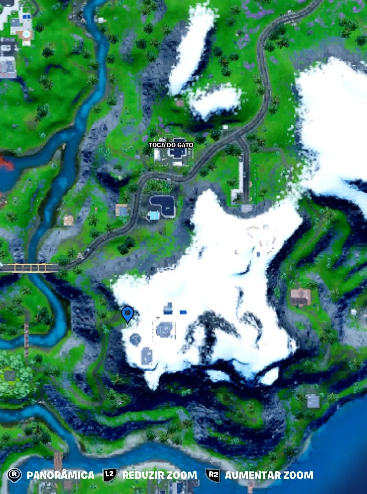 Fortnite - Mapa com a localização do J B Chimpanski - 01