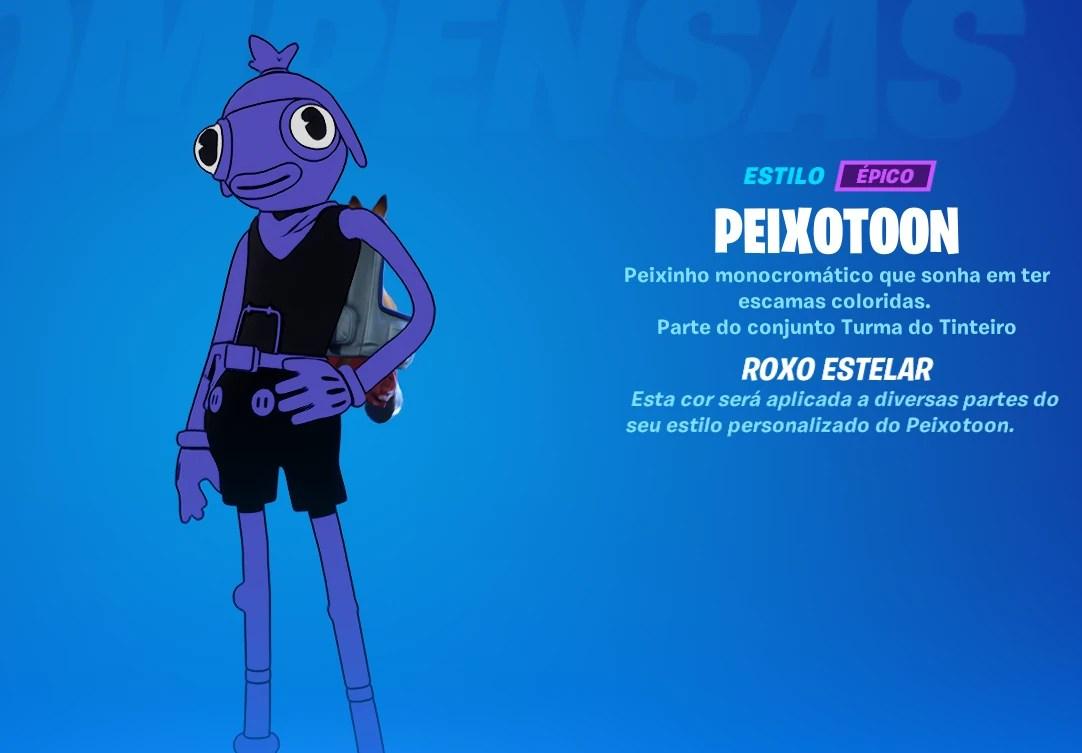 Peixotoon Roxo Estelar - Fortnite