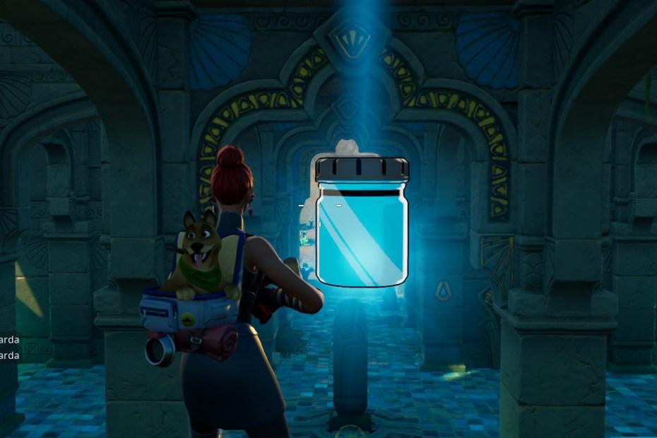 Fortnite - Encontrando frascos de cor Azul Congelado Capa