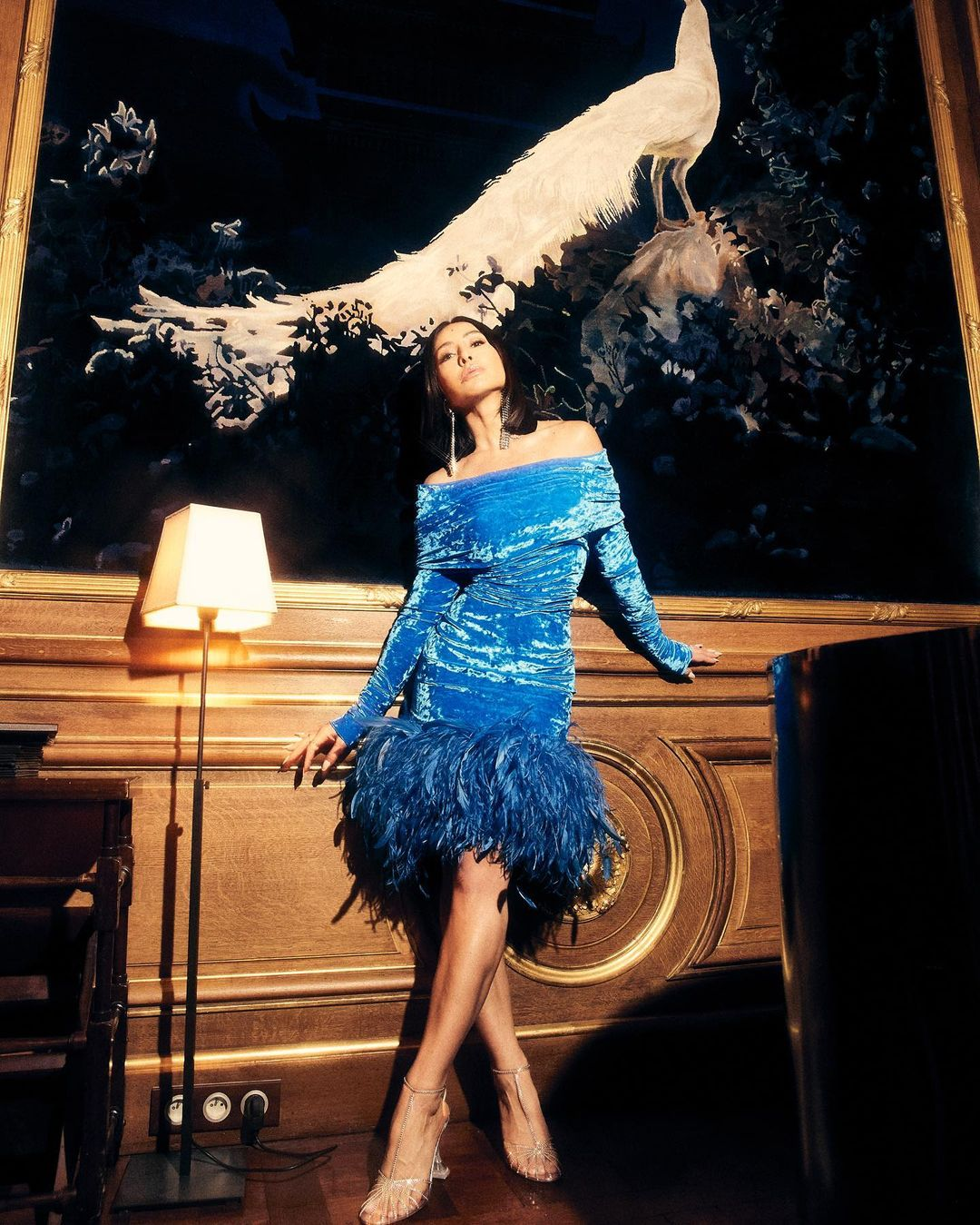 Sabrina Sato Vestido azul Glamour