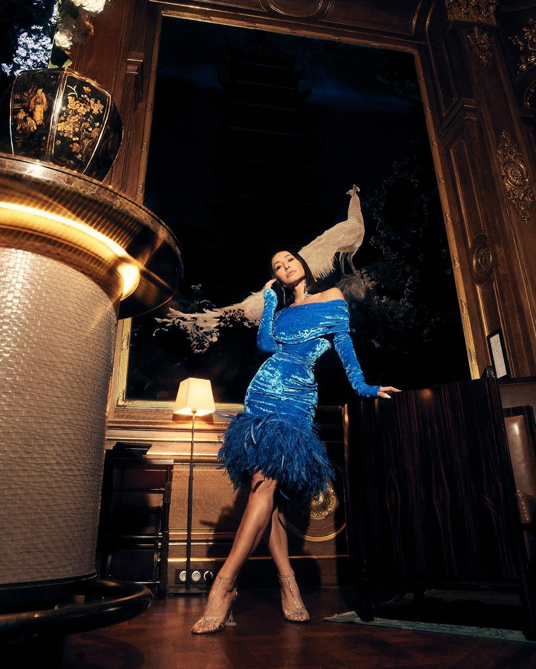 Sabrina Sato Vestido azul Glamour 04