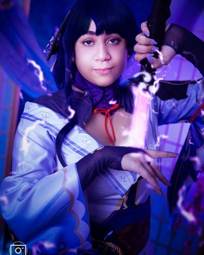 Shogun Raiden Cosplay - Genshin Impact - Por Nuty Kawaii 04