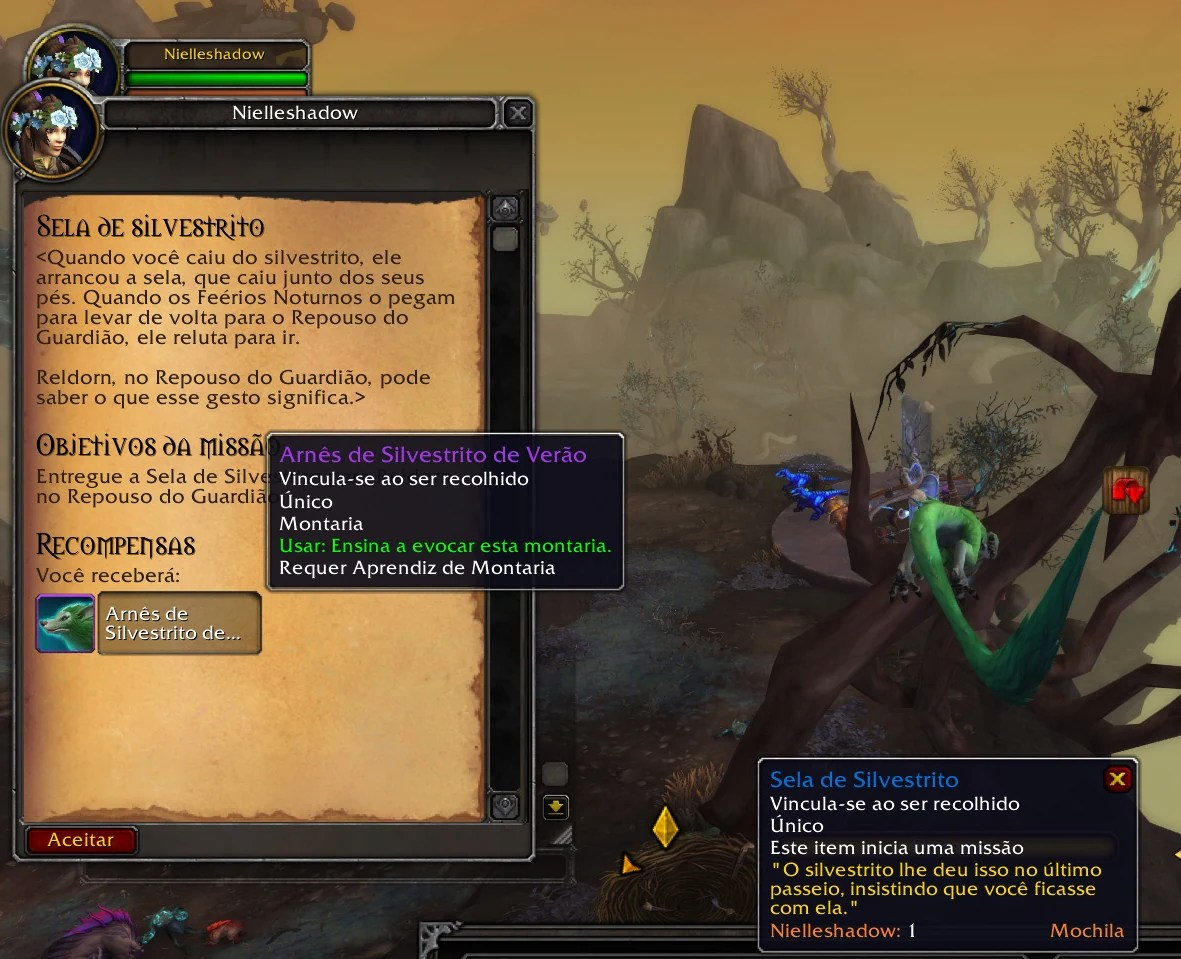 World of Warcraft Shadowlands - Missão do Silvestrito Fugido 05