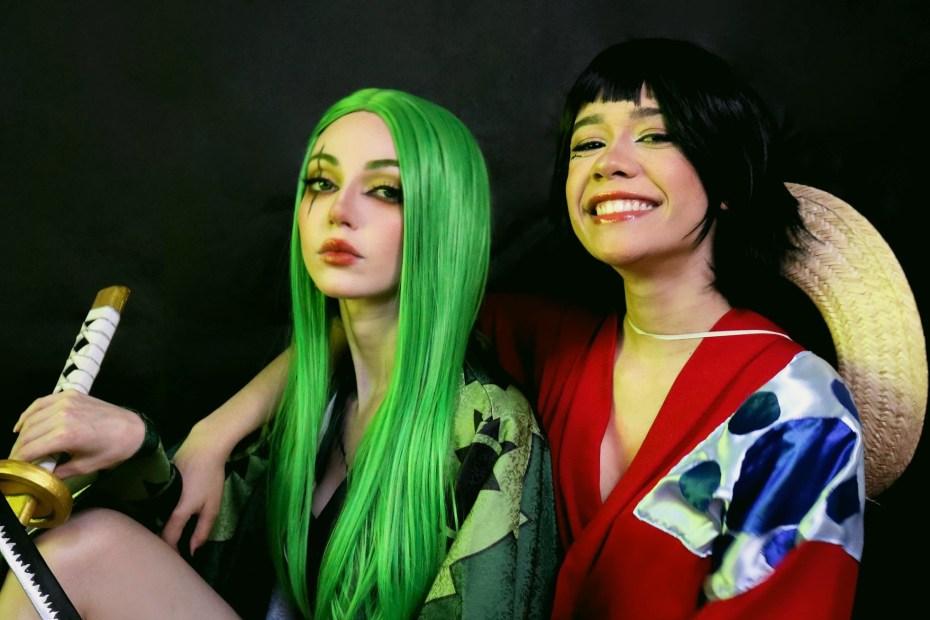 Zoro e Luffy - Cosplays do Arco Wano Versões Femininas - Capa