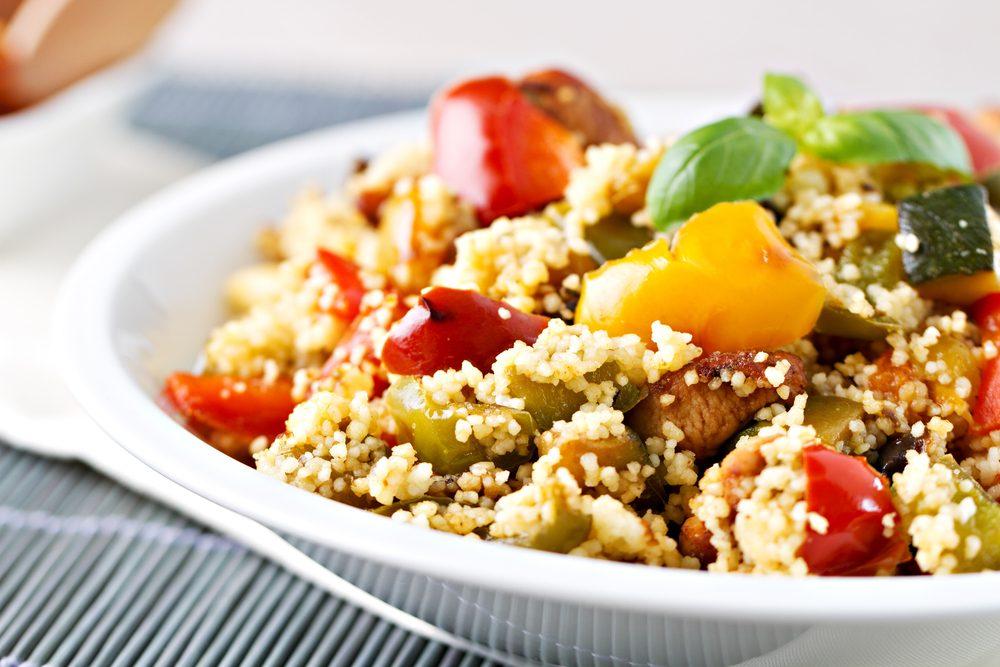 Une recette méditerranéennes de couscous