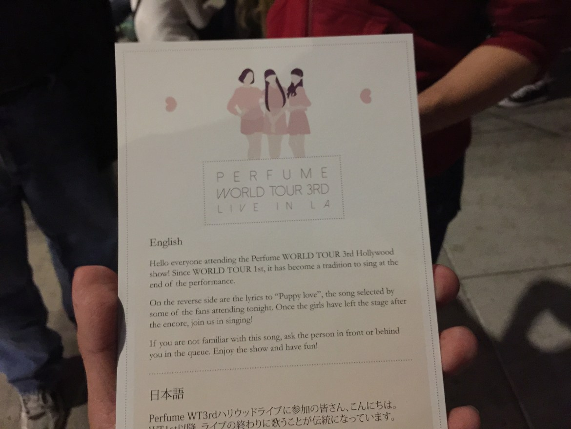 Perfume Encore Card