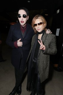 """Marilyn Manson and Yoshiki seen at The Los Angeles Premiere """"We Are X"""" on Monday, October 03, 2016, in Los Angeles, CA. (Photo by Eric Charbonneau/Invision for Drafthouse Films/AP Images)"""