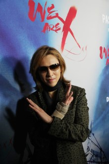 """Yoshiki seen at The Los Angeles Premiere """"We Are X"""" on Monday, October 03, 2016, in Los Angeles, CA. (Photo by Eric Charbonneau/Invision for Drafthouse Films/AP Images)"""