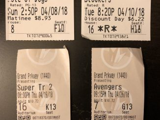 April Movie Tickets