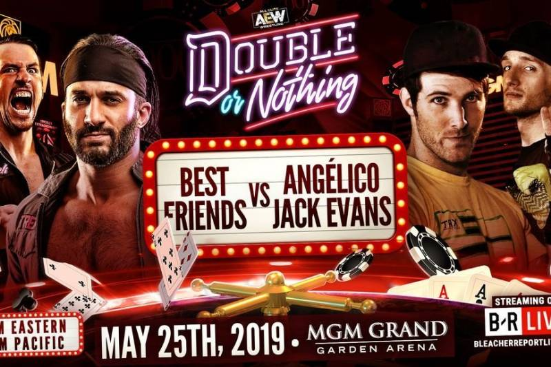 AEW Double or Nothing - Best Frends Anjelico Evans