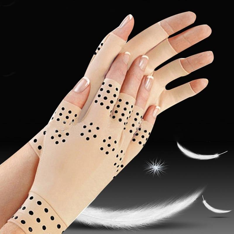 Anti Arthritis Health Compression Therapy Gloves Men Women Fingerless Gloves