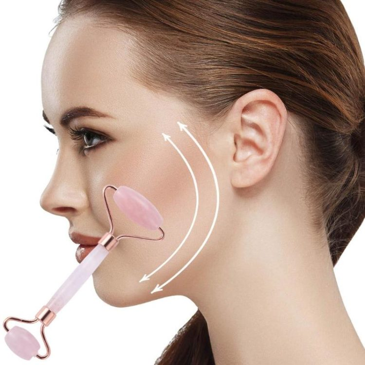 Double Head Facial Massage Roller Jade Face Slimming Body Head Neck Device
