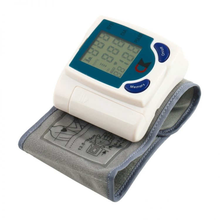 Digital LCD Wrist Cuff Arm Blood Pressure Monitor Heart Beat Rate Pulse Measure Meter