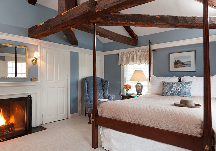 Harbor Light Bedroom with beams