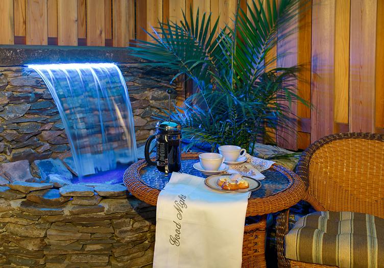 Cliffside Food by waterfall