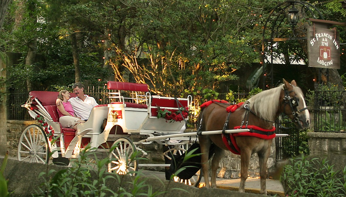 Horse Carriage Passes St Francis Inn