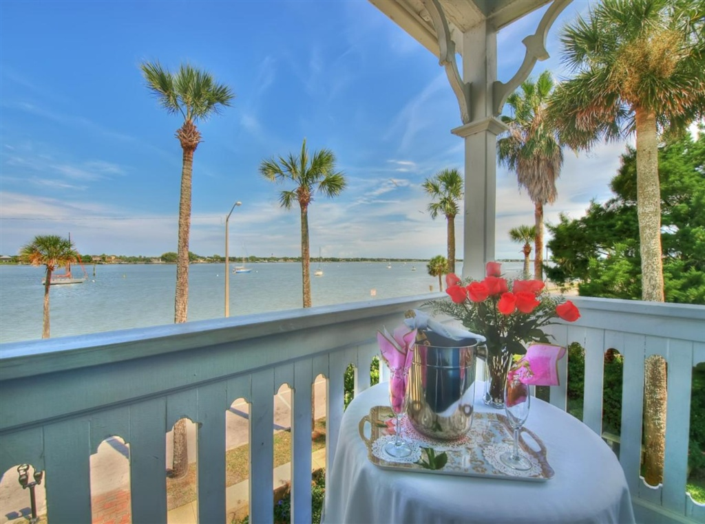 Lovely view of Matanzas Bay from the 2nd-story porch