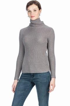 Cotton Knit Turtleneck.