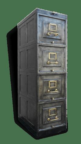 meuble metal vintage rangement 4 tiroirs