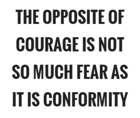 Courage from conformity