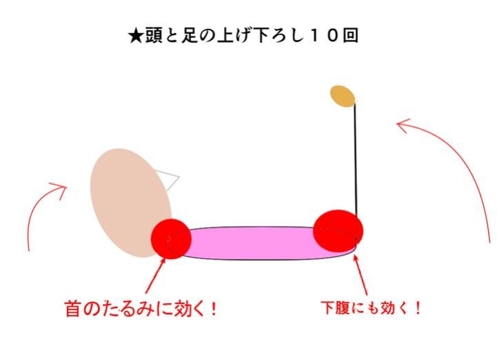 首のたるみ解消トレーニングの解説画像