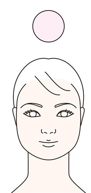 輪郭が丸顔の画像
