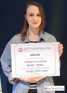 Die stolze Siegerin Marieke Homann