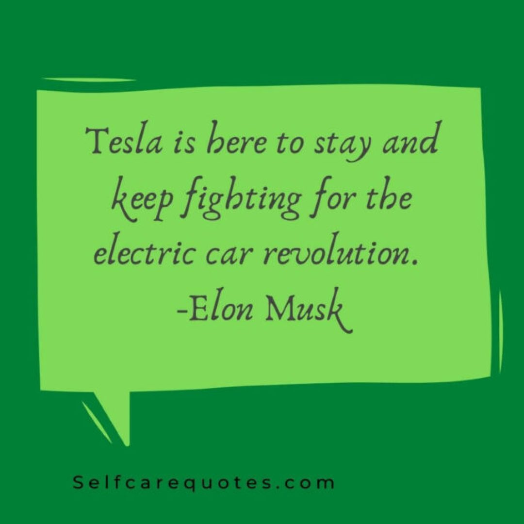 Elon Musk Quotes About Tesla