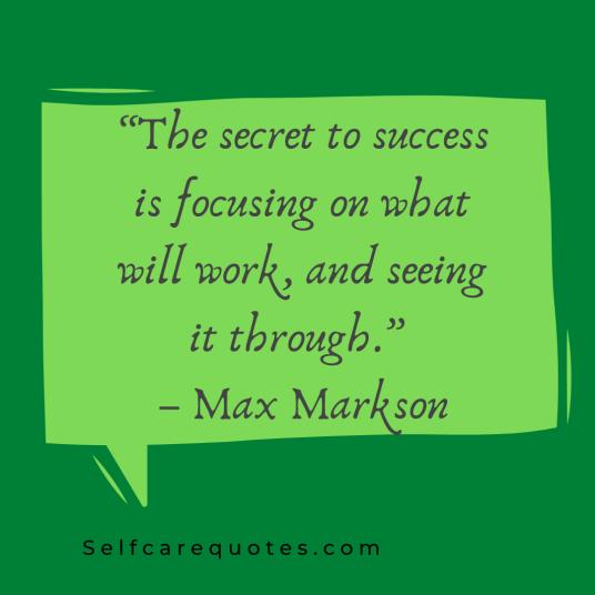 Focus Motivational Quotes