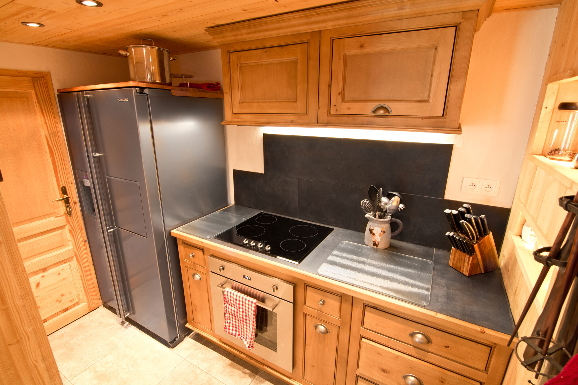 Chalet Kitchen for self catered holiday in St Martin de Belleville