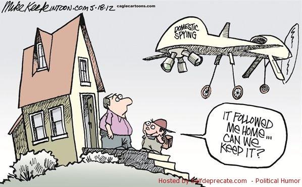 2013 Domestic Spying Drone Cartoon