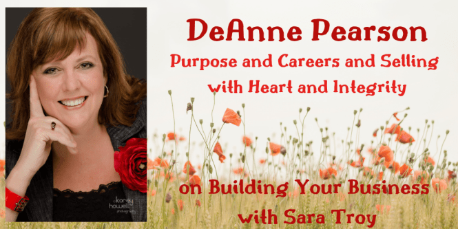 Purpose and Careers and Selling with Heart and Integrity