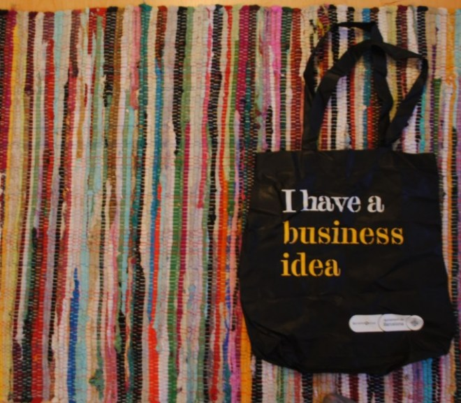 """I have a business idea"" Barcelona bag"