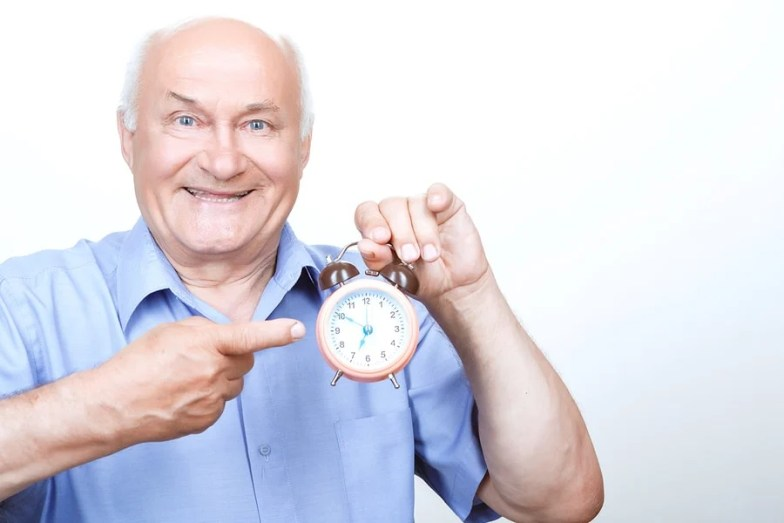 Grandfather with clock